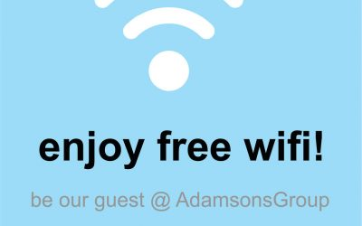 Free WiFi at Adamsons Group