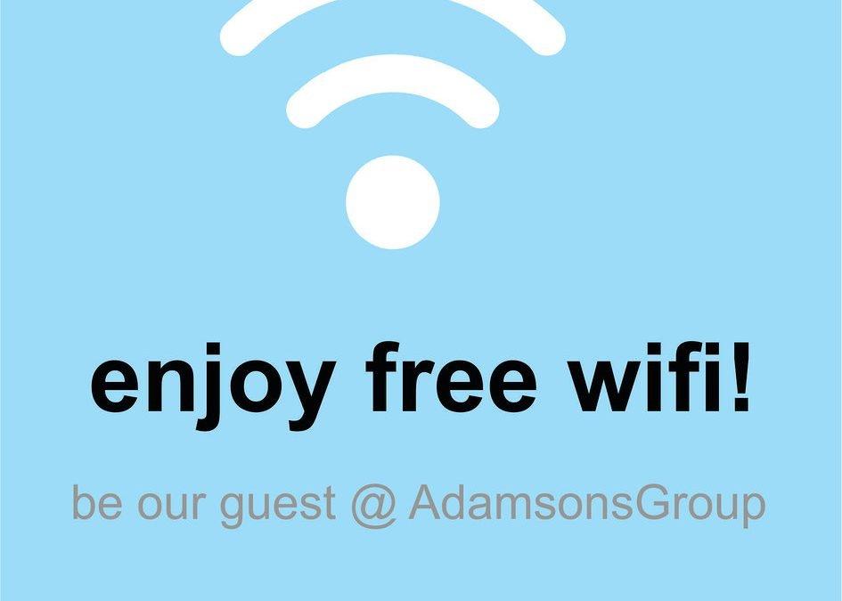 Free WiFi at Adamsons Group